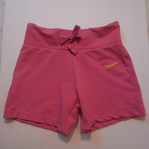 Nike Fit Dry Shorts Cotton Blend Pink Yoga Running